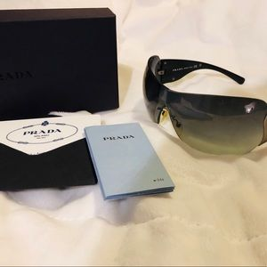 [Authentic Prada Sunglasses~ Black and Silver~